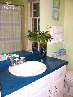 1970's Guest Bathroom Makeover - Pretty Handy Girl