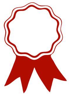 award ribbon red