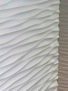 sculptured wall surface