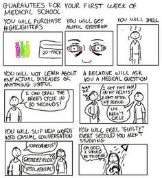 A Cartoon Guide to Becoming a Doctor: Guarantees for your first week of med school