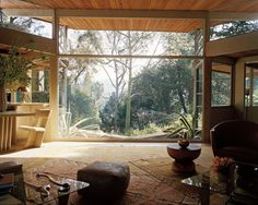 The Richard Lechner House,11600 Amanda Drive in Studio City, CA. Originally designed by Rudolf Schindler in 1948