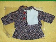 Vintage-60er-Puppenkleidung-Strick-Kostuem-Jacke-Kleid-Haengerchen-30-35-Baggy