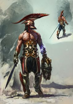 Pin by bruce thomas on warriors in 2019 fantasy art, character design, art. Fantasy Armor, Medieval Fantasy, Dark Fantasy, Dnd Characters, Fantasy Characters, Fictional Characters, Gods Of War, Game Character, Character Concept