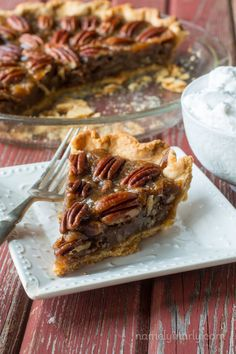 Everyone's favorite pie veganized - Vegan Pecan Pie - with simple ingredients and easy-to-follow instructions. You'll be enjoying this pie in no time!