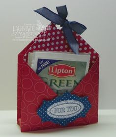 Debbie's Designs: Wednesday Wacky-Tea Bag Holder and tutorial!