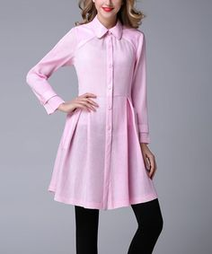 Pink Pocket Princess Coat - Plus Too