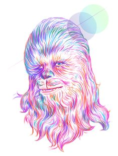 Rainbow Chewbacca - Star Wars