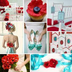 red & aqua wedding | + Hill Country + Texas | Wedding DesignWedding Planning + Wedding ...