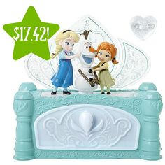 """The Disney Frozen """"Do You Want to Build a Snowman?"""" Jewelry Box from Jakks Pacific. Press the button on top of the box to hear the song from the film """"Do You Want to Build a Snowman?"""" while Anna and Elsa assemble Olaf! Frozen Jewelry Box, Kids Jewelry Box, Musical Jewelry Box, Jewellery Box, Music Jewelry, Christmas Gifts For Girls, Christmas Colors, Christmas 2015, Christmas Wishes"""