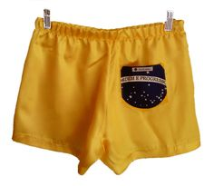 tamanho P - veste 38  tecido cetim de seda amarelo com bolso em tricoline bandeira do Brasil  samba canção UNISEX estampas divertidas da hhbrasil  edições limitadas R$ 10,00