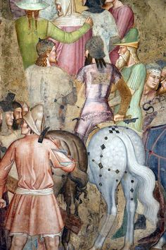 Category:Cappellone degli Spagnoli - Passion of Christ Medieval Hats, Santa Maria Novella, Medieval Paintings, Sculpture Painting, Historical Art, 14th Century, Military History, Oeuvre D'art, African Art