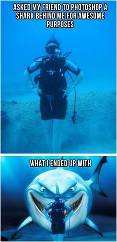LOL!!! IF any1 goes diving with me, this is going to happen to ALL of the photos we take!! LOL!!!