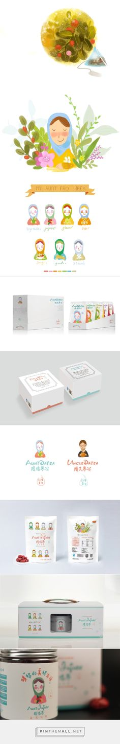 姨妈的美好生活——好想你枣业 on Behance by Heyes Design Zhengzhou, China curated by packaging Diva PD. Aunt Jujube and relatives on adorable familial packaging. Branding, illustration.
