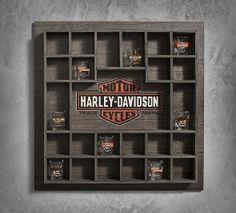 Wooden Shot Glass Display Case | New Arrivals | Official Harley-Davidson Online Store