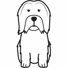 Lowchen Dog Cartoon Photo Cutout