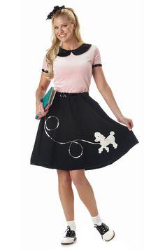 50's Poodle Skirt Adult Costume $24.95
