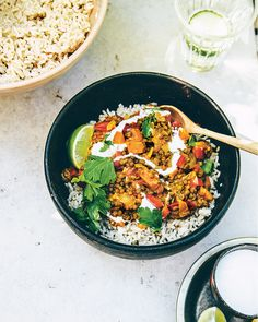 Lentils can come across as a bit dull but this curry recipe from Nina Olsson is nothing of the sort. It has flavours that sing together – earthy cumin and cinnamon, tangy lime and coriander, hot chilli and garlic – marrying perfectly with sweet butternut squash and lentils.