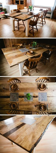 DIY Rustic Table. I built this for my wife. Read the story here: http://bradley-and-janna.blogspot.com/2015/02/diy-rustic-table-christmas-present-for.html