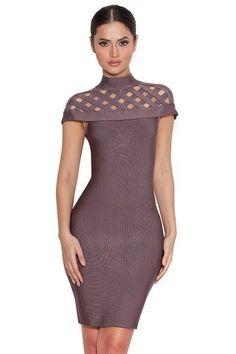 Sexy Lattice Bandage Dress LAVELIQ