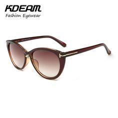 Kdeam Eyewear Vintage Cat eye Sunglasses for Women Colorful Reflective Coating HD Lens Brand Sun Glasses 10 Colors KD6008