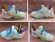 Nike Huarache, Sneakers Nike, Diy, Make It Yourself, Crafty, How To Make, Shoes, Second Life, Painted Sneakers