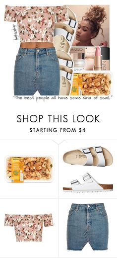 """""""leah143love"""" by leah143love ❤ liked on Polyvore featuring Birkenstock and Topshop"""
