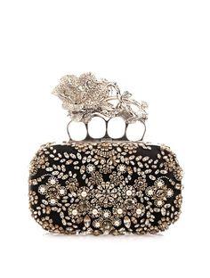 Alexander McQueen Knucklebox embellished satin clutch on shopstyle.com