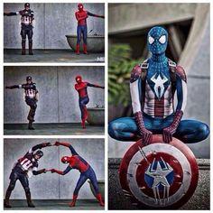 Fantastic cosplay! Spider-Man / Captain America / Civil War
