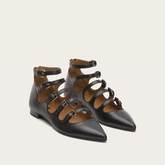 Frye 72074 Women's Sienna Buckle Ballet | Outdoor Equipped
