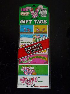 Vintage 1980\'s Spindex Xmas Candy Cane Scratch by CanUFraggleRock