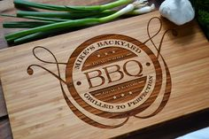 Personalized BBQ Board, Engraved Bamboo Wood by Twistedbranchdesigns on Etsy