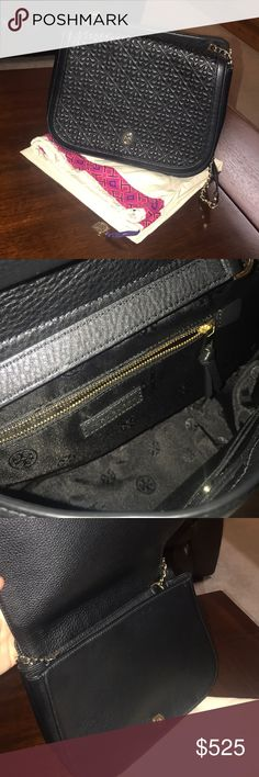 "Tory Burch ""Bryant"" Quilted Shoulder Bag Black quilted shoulder bag with adjustable gold chain.  Brand new and comes with original Tory Burch protection bag. Negotiable price. Tory Burch Bags Shoulder Bags"