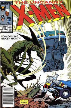 "Uncanny X-Men vol.1 # 233, ""Dawn of Blood"" (September, 1988). Cover by Marc Silvestri & Dan Green."