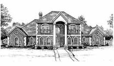 Elevation of Colonial   European   French Country   House Plan 98599