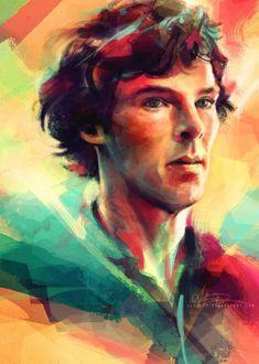 Gorgeous Sherlock fanart. I swear to God Sherlockians make some of the best fanart I've seen in my life.