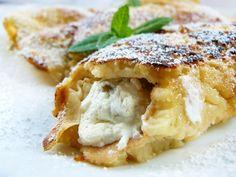 NALEŚNIKOWE ROLADKI Z TATAREM ŚLEDZIOWYM Apple Pie, Feta, Cauliflower, Yummy Food, Chicken, Vegetables, Breakfast, Desserts, Pierogi