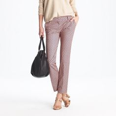 J Crew cafe Capri pants in Foulard size 2 Awesome and fun pants, perfect for spring and summer!  The print makes me happy.  In excellent, pre-owned condition, no flaws and ready to wear. J. Crew Pants Ankle & Cropped