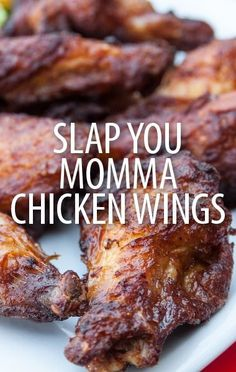 Food Fighters' Adam Richman made an apology on Kathie Lee & Hoda and shared the Slap Yo Momma Chicken Wings Recipe that won his impromptu taste test. -Finish last 20 min on the grill Turkey Recipes, Meat Recipes, Appetizer Recipes, Dinner Recipes, Cooking Recipes, Appetizers, Chicken Wing Recipes, Football Food, Game Day Food