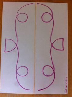 Vormtekenen spiegelen // klas 2 // eigen werk // propedeuse 2014