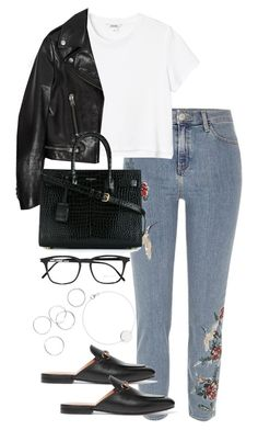 """""""Untitled #4014"""" by theeuropeancloset ❤ liked on Polyvore featuring River Island, Monki, Gucci and Yves Saint Laurent"""