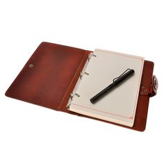 Amazon.com : ZLYC Handmade Vegetable Tanned Leather Refillable Travelers Journals Pencil Case Notebook, Brown : Office Products