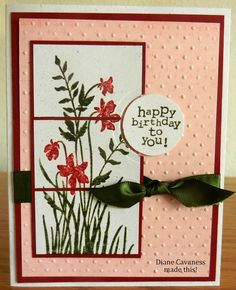 Stampin Up Just Believe Making Greeting Cards, Greeting Cards Handmade, Birthday Cards For Women, Just Believe, Flower Cards, Homemade Cards, Stampin Up Cards, Card Making, Paper Crafts