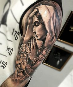 For more ideas and inspirations how are you - Tattoos - Praying Hands Tattoo, Christ Tattoo, Jesus Tattoo, Daddy Tattoos, Dope Tattoos, 3d Tattoos, Chest Piece Tattoos, Arm Sleeve Tattoos, Angel Tattoo Designs
