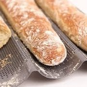 Homemade Baguette Recipe - Laura in the Kitchen - Internet Cooking Show Starring Laura Vitale Homemade Baguette Recipe, French Baguette Recipe, Baguette Bread, Homemade Breads, Laura In The Kitchen Recipe, Bread Recipes, Baking Recipes, Scones, The Kitchen Episodes