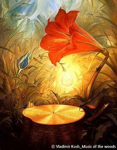 Vladimir Kush-Music of the woods #art / Your Lifetime Gallery ::: www.cubbying.com
