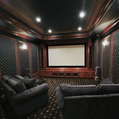 Awesome Basement Home Theater Design Ideas – Luxury Interiors Awesome Basement Heimkino-Design-Ideen – Luxus-Interieur Theater Room Decor, Home Theater Rooms, Home Theater Seating, Home Theater Design, Best Home Theater, At Home Movie Theater, Home Theater Speaker System, Media Room Design, Ideas Geniales