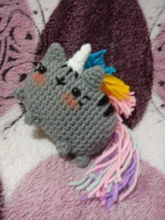 Pusheen the Unicorn. Free crochet pattern