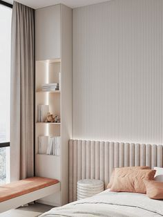 #SILVER_QUADRO on Behance Room Design Bedroom, Home Room Design, Home Bedroom, Modern Bedroom, Home Interior Design, Bedroom Decor, Luxury Kids Bedroom, Bedroom Furniture, Apartment Interior