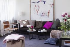 1. Hanging art at your eye level. According to designer Vern Yip, you should actually hang wall art 60 inches above the floor, which is the average eye level of all people. This makes the display pleasing for all people who enter, not just you.