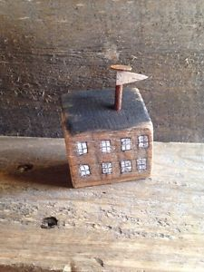 House Primitive Rustic Home Folk Art by A Gambrel OOAK Birch Flag | eBay